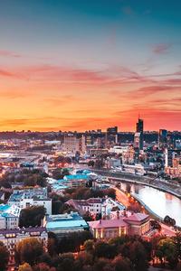 480x800 Vilnius Cityscape 4k