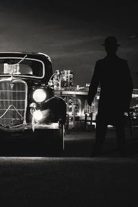240x320 Vintage Car Guy