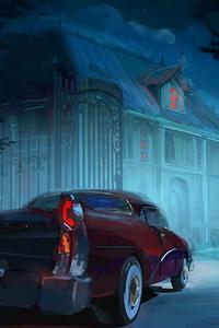 800x1280 Vintage Car Man Back Home