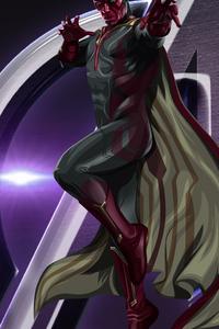 480x800 Vision Avengers Endgame