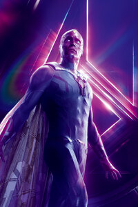 Vision In Avengers Infinity War 8k Poster