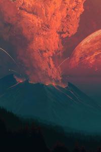 720x1280 Volcano Ashes 4k