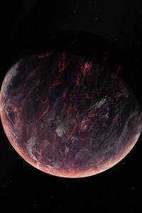 1280x2120 Volcano Burning Planet 5k