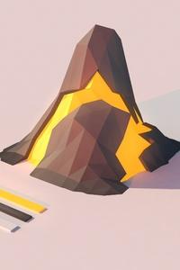 Volcano Lowpoly 4k