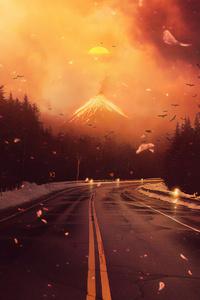 360x640 Volcano Road 4k
