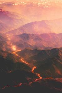 Volcanoes Mountains Lava