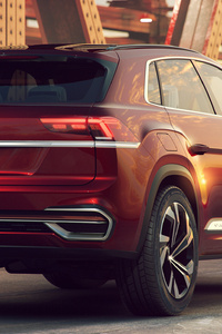 Volkswagen Atlas Cross Sport Concept 2018 Rear
