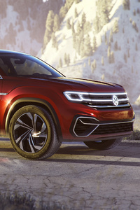 240x320 Volkswagen Atlas Cross Sport Concept 2018 Side View