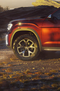 Volkswagen Atlas Tanoak Pickup Truck Concept 2018 Side View