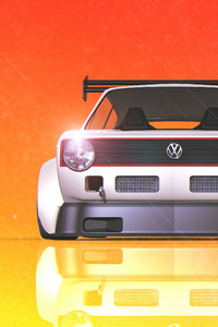 480x854 Volkswagen Golf Gti Digital Art 4k