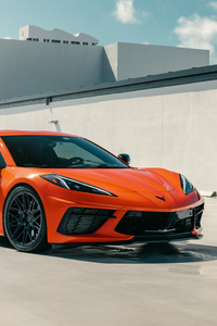Vossen Orange C8 Corvette 8k