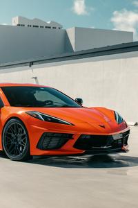 480x800 Vossen Orange C8 Corvette 8k