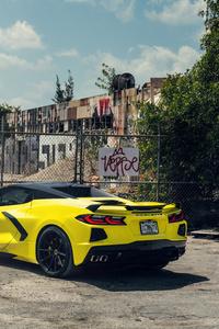 Vossen Yellow And Black Corvette C8