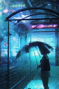 1125x2436 Waiting In Rain