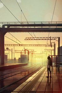 360x640 Waiting Train Station