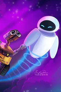 320x568 Wall E And Eve 4k