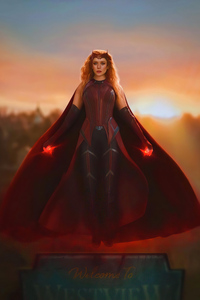 320x568 Wanda As Scarlet Witch 5k