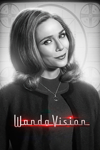 320x480 Wanda Vision Monochrome Poster 4k