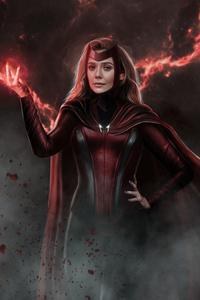 750x1334 Wanda Vision Scarlet Witch Tv Series 5k
