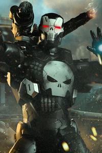 640x1136 War Machine Punisher 4k