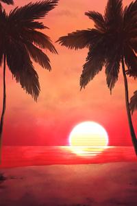 1080x2160 Warm Sunset 4k