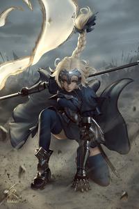 1080x2160 Warrior Anime Girl Art 4k