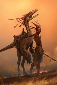 Warrior Creature Fantasy Fire Artwork