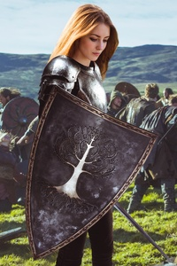 Warrior Girl Photo Manipulation Fantasy Art 5k