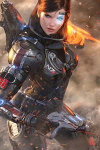 360x640 Warrior Girl Scifi In War 4k