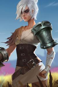 1080x1920 Warrior Girl With Sword 5k