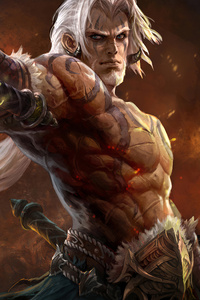 640x960 Warrior White Hair Man