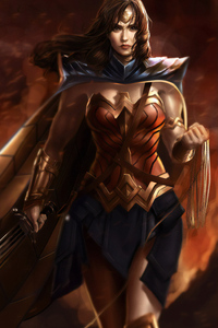Warrior Wonder Woman Art