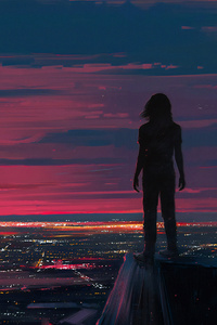800x1280 Watching The Sunset 4k