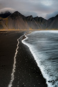 Water Iceland Coast 4k