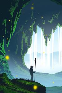 Waterfall Cave 4k