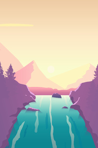 240x320 Waterfall From Top 8k