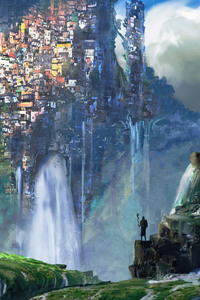 1242x2688 Waterfall Slums