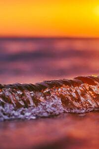 1080x2280 Wave Sunset