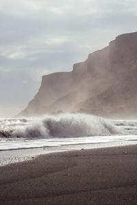 Waves Shore Ocean