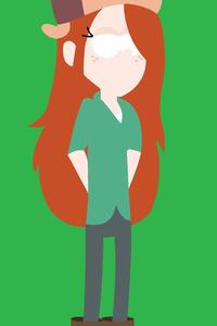 Wendy In Gravity Falls Minimalism 8k