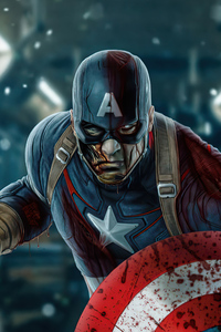 640x960 What If Captain America Zombie