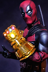 640x1136 What If Deadpool Had The Gauntlet