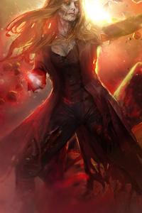 320x568 What If Zombie Wanda Vision Fan Art 5k