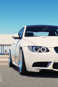 800x1280 White BMW 8k