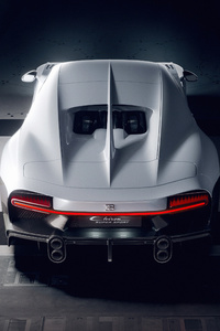 640x960 White Bugatti Chiron Super Sport Rear Cgi 5k