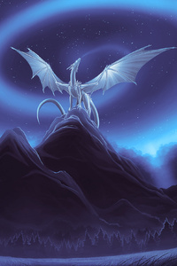 White Dragon On Mountain