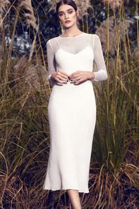 White Dress Model Outdoor