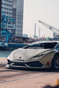 1125x2436 White Lamborghini 4k 2020