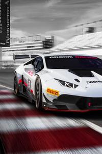 White Lamborghini Huracan 5k New 2019