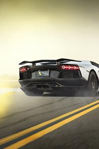 White LamborghiniAventador